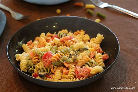 pasta salad with rotini yum yum yum tri color rotini pasta salad
