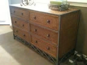 pier 1 wicker metal 6 drawer dresser photo picture