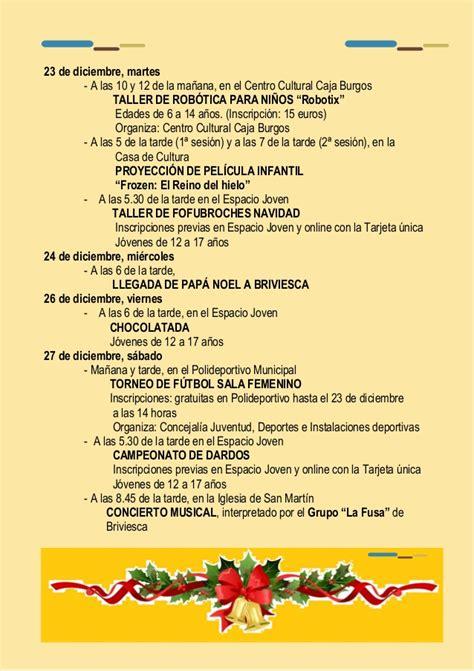 programa de navidad programa navidad cultural de briviesca 2014 2015