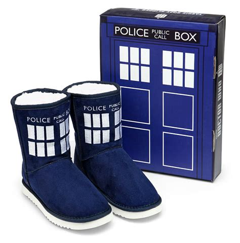 Usb Tardis Complete With Vworp by Tardis Boot Slippers Thinkgeek