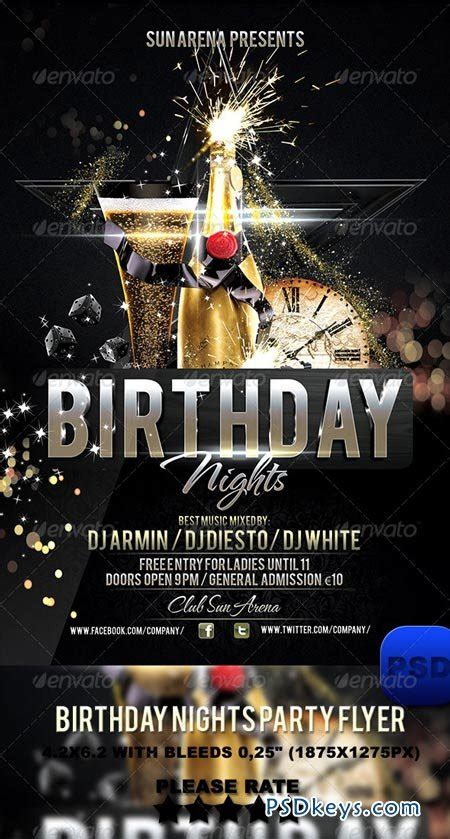 birthday flyer templates free birthday nights flyer 6217618 187 free