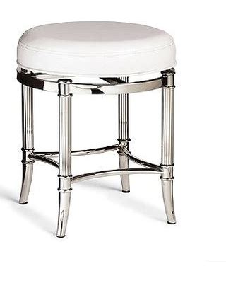 Polished Nickel Vanity Stool by Spectacular Deal On Bailey Vanity Stool Brushed Nickel