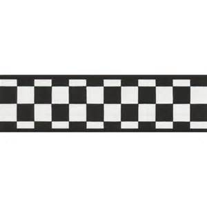 Black and white check wallpaper border wall sticker outlet