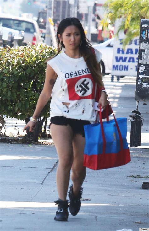 brenda song swastika shirt disney wears