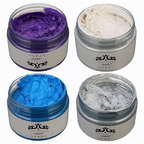 unisex colors 4 colors unisex diy hair color wax mud disposable