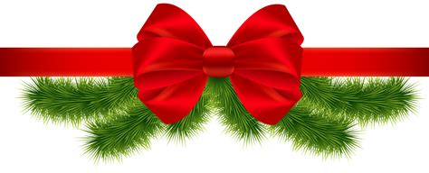 clipart christmas flower and ribbon png bbcpersian7