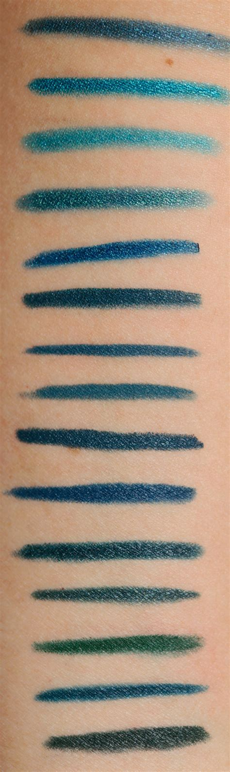 Eyeliner Teal teal blue based eyeliners swatches dupes and comparisons