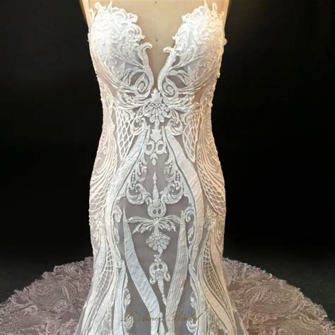 Wedding Dresses Handmade - high quality handmade embroidered lace wedding