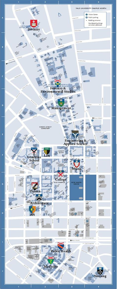 printable yale map yale map yale university cus south and medical center
