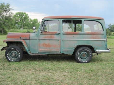 willys jeep truck 4 door 1956 willys jeep utility wagon 4 x 4 truck solid barn find
