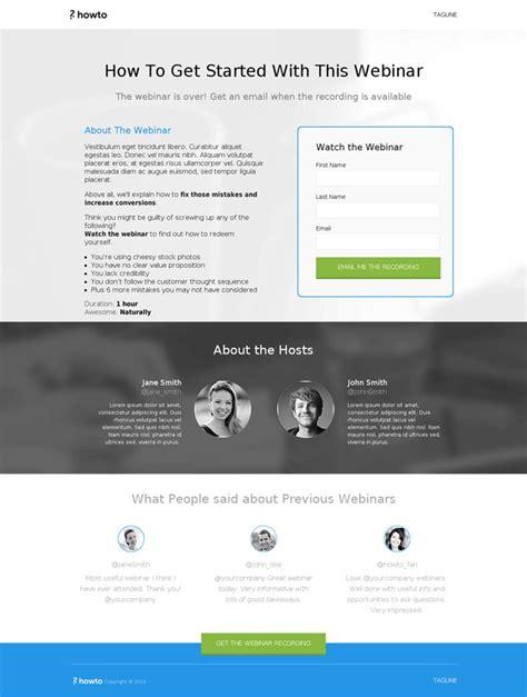 Mark John Hiemstra Anthony O Donoghue Webinar Landing Page Template
