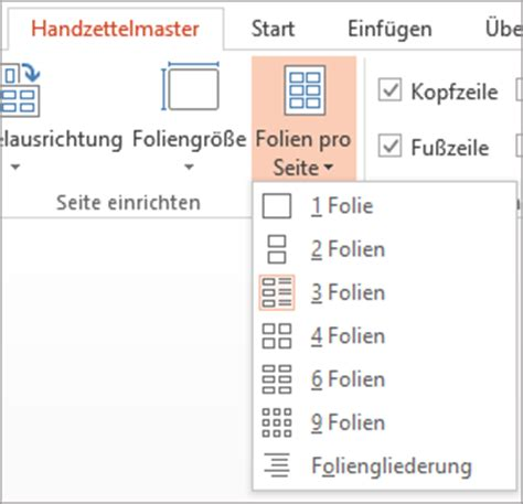 powerpoint layout hochformat erstellen oder 196 ndern des handzettels einer pr 228 sentation