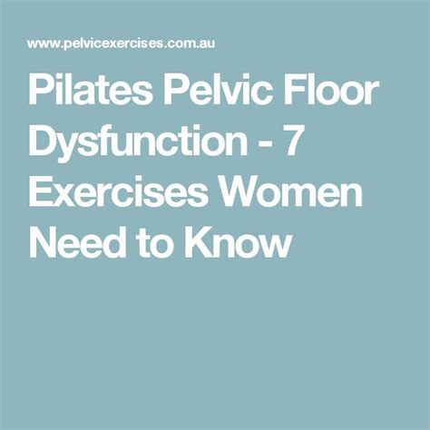 25 best ideas about pelvic floor exercises on