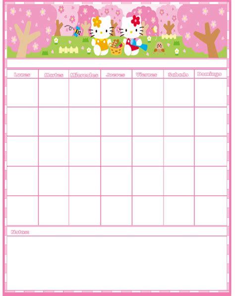 Calendario Turco Kawai World Cositas Para Imprimir