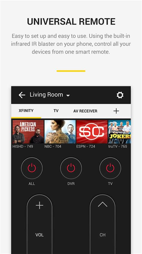 peel smart remote tv guide android apps on google play