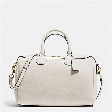 Coach Bennet Chalk coach f36672 satchel in pebble leather imitation gold chalk coach handbags