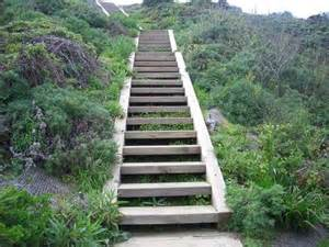 Wooden Stairs Design Outdoor Wooden Outdoor Stairs And Landscaping Steps On Slope Landscaping Ideas