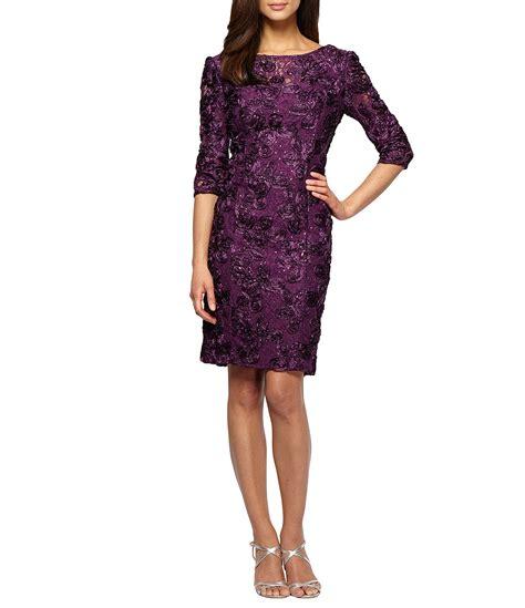 dillards dresses for alex evenings rosette sheath dress dillards