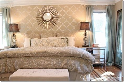 bedroom wall stencils welcome to the new century modern glam master bedroom