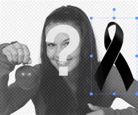 poner fotos en blanco y negro online poner un lazo de luto negro en tus fotos online fotoefectos