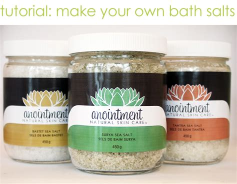 Handmade Bath Salts - tutorial make your own bath salts diy oh my handmade