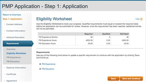 How To Complete Your Pmp Application Step By Step Pmp Application Template