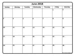 June 2018 Calendar Printable June 2018 Calendar June 2018 Calendar Printable
