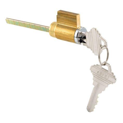 Patio Door Lock Cylinder Prime Line Patio Chrome Sliding Door Loop Lock U 9847 The Home Depot