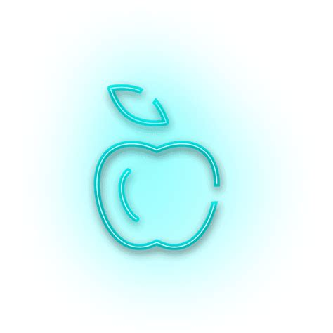 imagenes png neon neon blue apple icon transparent png svg vector