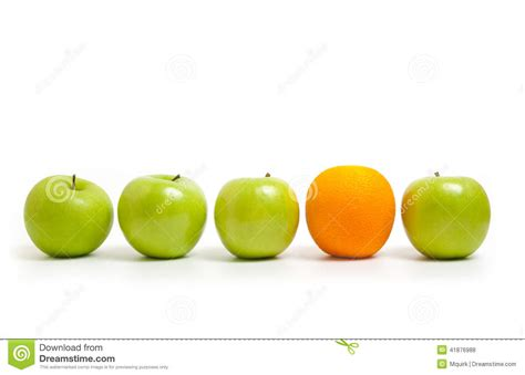 Comparing Apples To Oranges by Comparing Apples To Oranges Stock Photo Image 41876988