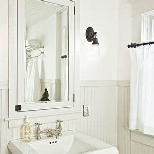 white beadboard mirror helgerson interior design bathrooms ivory