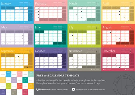 indesign template for calendar 2016 calendar template 2016