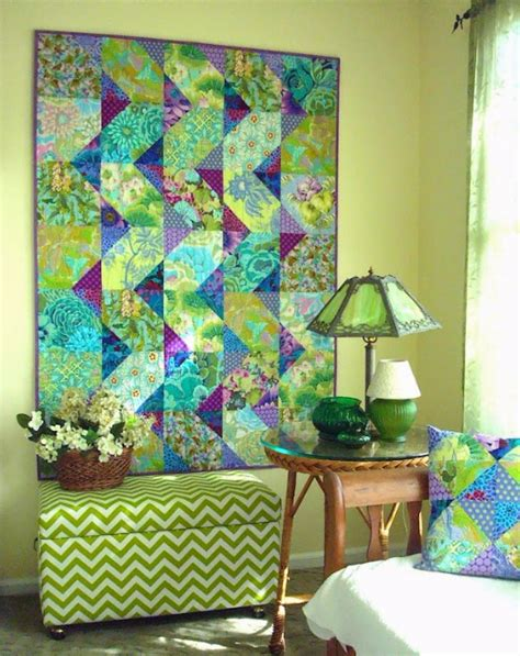 Cascade Quilt Pattern by A Cascade Quilt Of Floral Fabric A Scrap Quilting