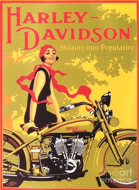 Poster Harley Davidson 1 harley davidson 1927 poster painting by reproduction