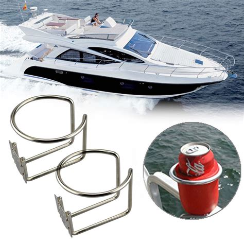boat drinks holders 2pcs stainless steel ring cup drink holder for marine boat