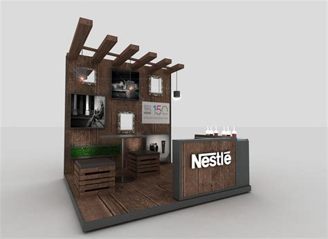 coffee booth design nestle leadership activation stand small ร าน
