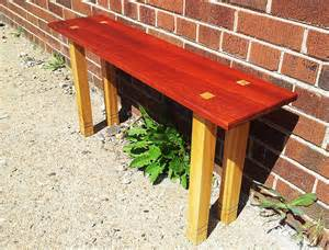 mortise and tenon bench padouk ash bench rh timber