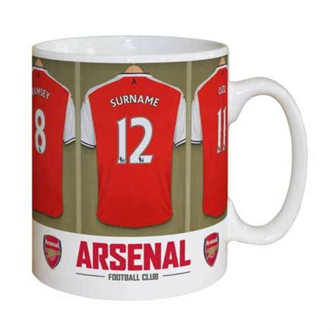 arsenalchristmas mgs personalised arsenal dressing room mug the personalised gift shop
