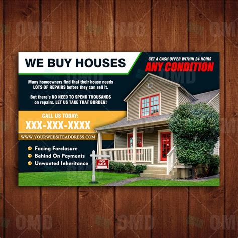 136 Best Images About Real Estate Marketing On Pinterest Property Listing Flyer Template And We Buy Houses Postcard Template