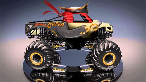 new monster jam trucks all new monster jam truck pirate s curse youtube