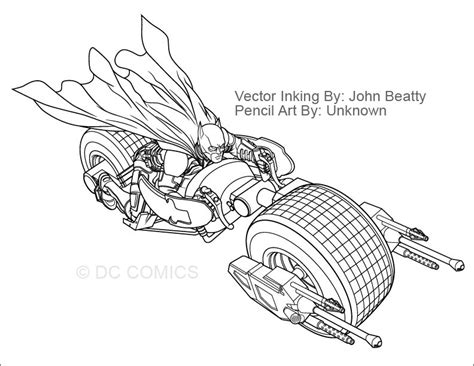 Batman Motorcycle Coloring Page | the batman on bat bike coloring pages sketch coloring page