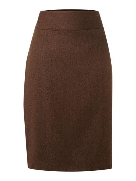 brown pencil skirt dress ala