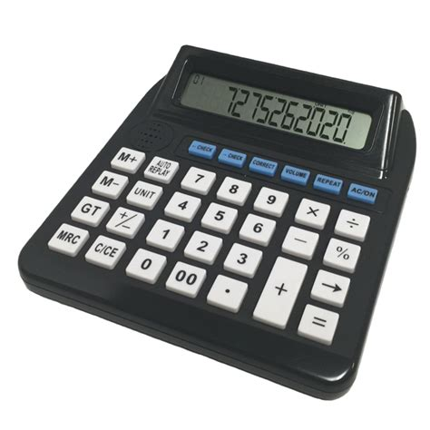 Desk Calculator With Tape Big Button Lcd Talking Calculator With Function Replay