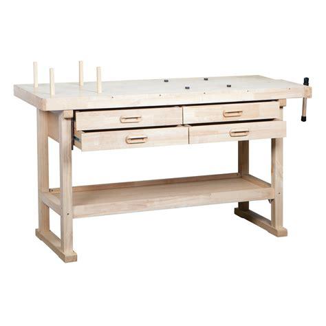 work bench singapore wood workbench 60 quot wood workbench w 4 drawers