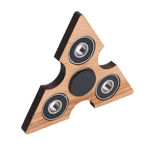 Holz Fidget Spinner by Best Triangle Wooden Fidget Finger Spinner Spin