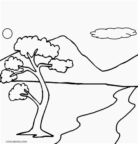 Coloring Page Nature by Free Nature Coloring Pages