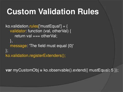 knockout validation pattern only if knockout validation