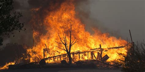 Wildfire At california wildfires howling winds low humidity a deadly