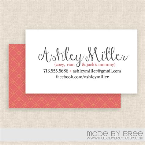 cards on the mommy calling cards business cards breeze crafty