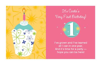 printable birthday cards 8 year old boy baby girl s 1st birthday invitation 1st birthday